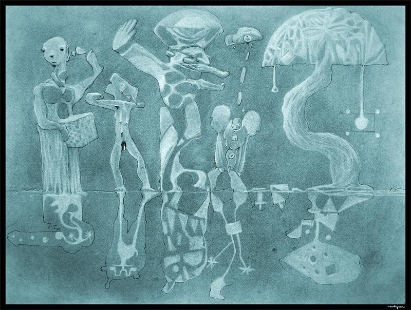 Francois Soulignac sketchbook croquis illustration - TEN CHARACTERS