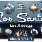 Gta in real life - Los -Santos VS Los Angeles - VINTAGE POSTCARD 300px