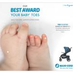 Maxi-Cosi China - Dorel Juvenile - Lila stroller key visual Baby Toes - Researches by Francois Soulignac, Digital Creative & Art Director - MADJOR Labbrand Shanghai, China