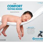 Maxi-Cosi China - Dorel Juvenile - Lila stroller key visual Baby Testing Room - Researches by Francois Soulignac, Digital Creative & Art Director - MADJOR Labbrand Shanghai, China