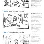 Starbucks China - Delivery Campaign - STORYBOARD SEQUENCES - Francois Soulignac - MADJOR Labbrand, Shanghai