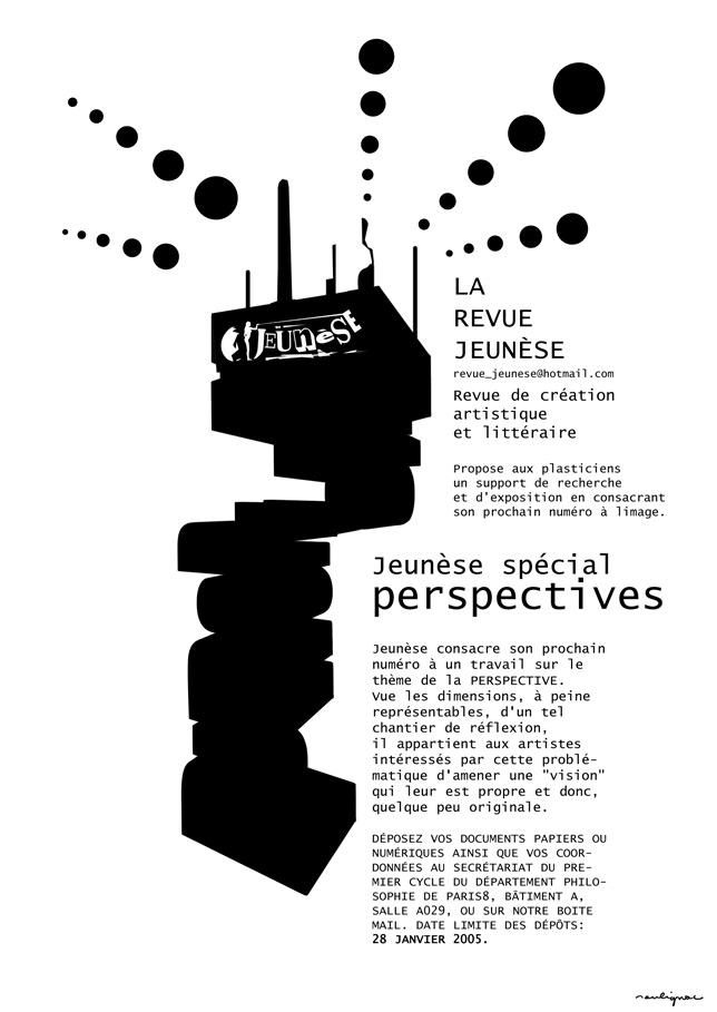 Francois Soulignac - Revue Jeunèse Paris 8 - Appel à contributions - Numéro spécial Perspectives MEDIAS