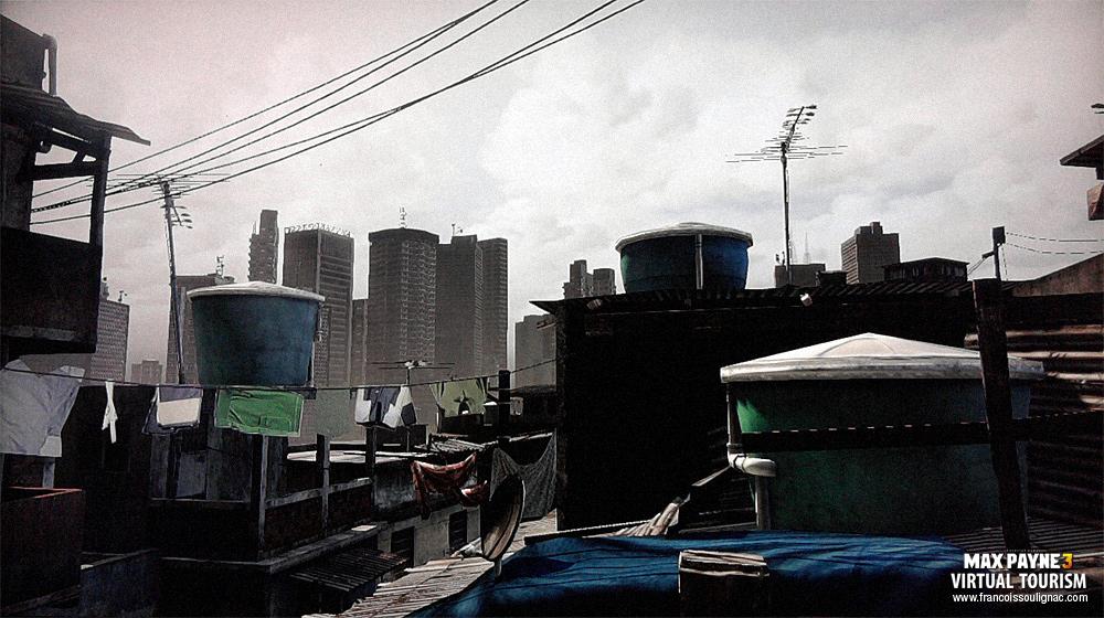 Virtual tourism Sao Paulo - Video Game Photography Max Payne 3
